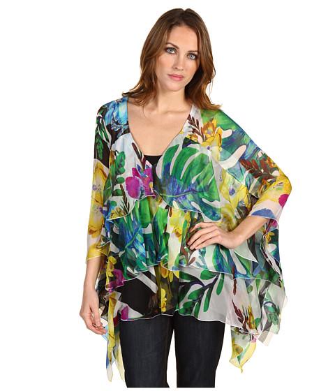 Bluze Just Cavalli - Layered Floral Kaftan Top - Multi