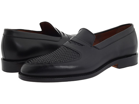 Pantofi Allen-Edmonds - Carlsbad - Black Custom Calf/Black Weave