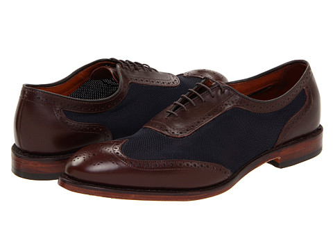 Pantofi Allen-Edmonds - Strawfut - Brown Calf/Navy Mesh