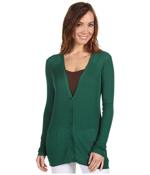 Bluze Anne Klein - L/S V-Neck Rib Cardigan - Emerald