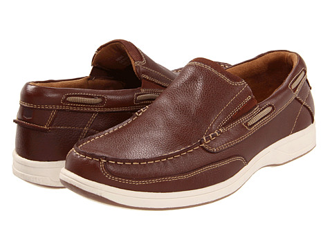 Pantofi Florsheim - Lakeside Slip - Cognac Milled Leather