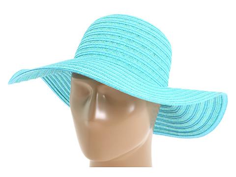 Palarii Echo Design - 2 Color Cross-Cross Floppy Hat - Turquoise/Jade