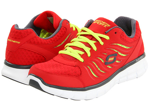 Adidasi SKECHERS - Synergy - Red/Lime