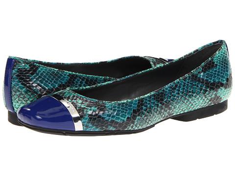 Balerini Calvin Klein - Pash - Cobalt Blue/Green Two-Tone Patent/Two-Tone Snake