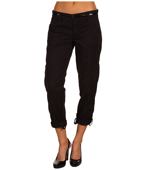 Pantaloni Calvin Klein - Pocket Seam Crop Denim - Black