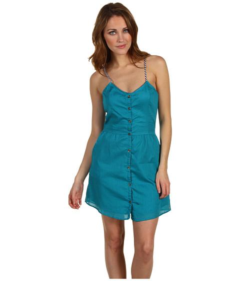 Rochii Volcom - Shadow Striper Dress - Vibrant Turquoise