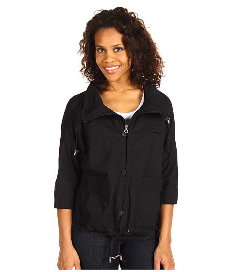 Jachete DKNY - Short Cotton Anorak - Black