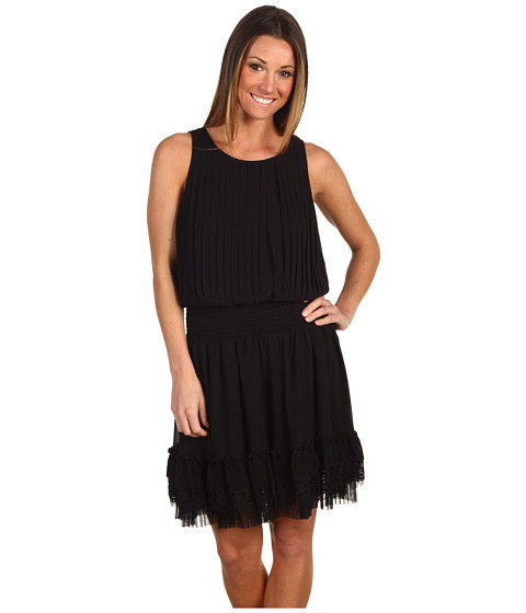 Rochii Jessica Simpson - Pleated Sleeveless Tank Dress - Black