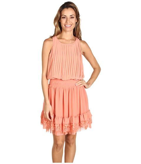 Rochii Jessica Simpson - Pleated Sleeveless Tank Dress - Orange