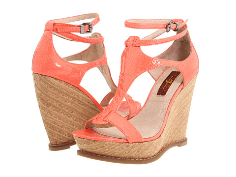 Sandale 7 For All Mankind - Rayn - Coral Shrunken Patent