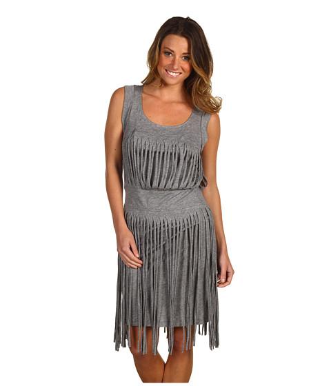 Rochii BCBGMAXAZRIA - Cotton Modal Fringed Dress - Heather Grey