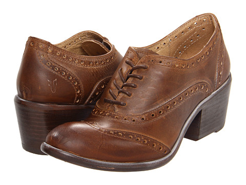 Pantofi Frye - Maggie Perf Wingtip - Tan Antique Pull Up