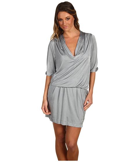Rochii BCBGMAXAZRIA - Interlock Jersey Pleated Dress - Limestone