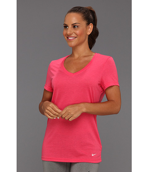 Tricouri Nike - Loose Tri-Blend Tee - Pink Force Heather/White