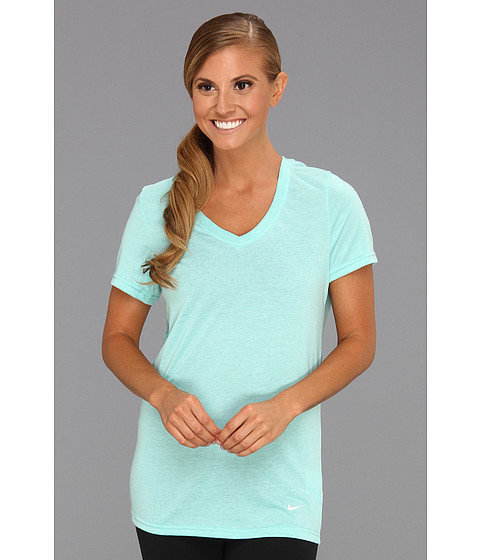 Tricouri Nike - Loose Tri-Blend Tee - Sport Turquoise Heather/White