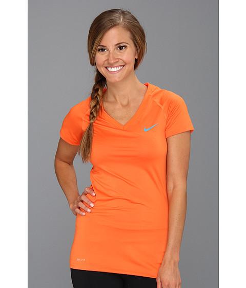 Tricouri Nike - Pro Core II Fitted Shirt - Electro Orange/Neo Turquoise