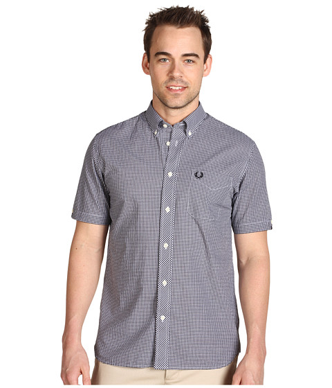 Camasi Fred Perry - Gingham Shirt - Black