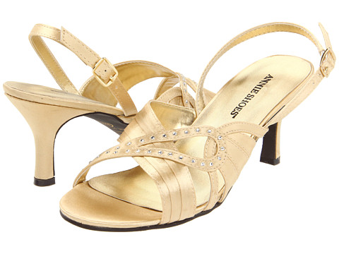 Sandale Annie - Mina Sling-back - Gold Satin
