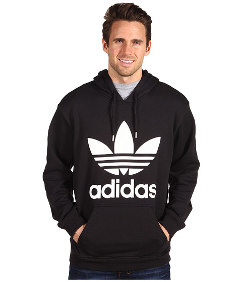 Bluze Adidas Originals - Trefoil Hoodie - Black/White
