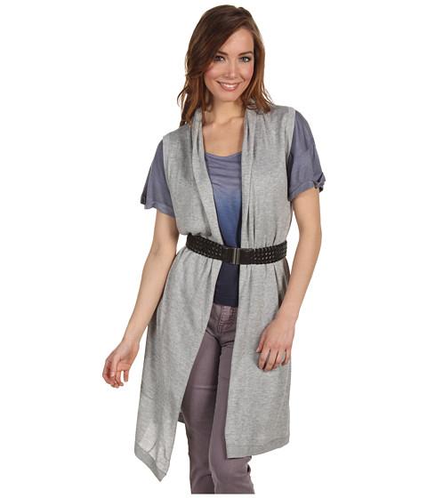Bluze BCBGMAXAZRIA - Silk Cashmere Sleeveless Cardigan - Light Heather Grey