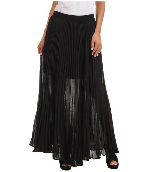 Fuste BCBGMAXAZRIA - Estel Sunburst Pleated Skirt - Black