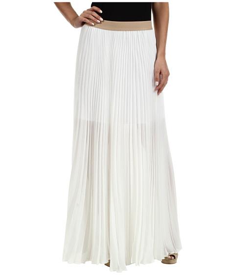 Fuste BCBGMAXAZRIA - Estel Sunburst Pleated Skirt - White