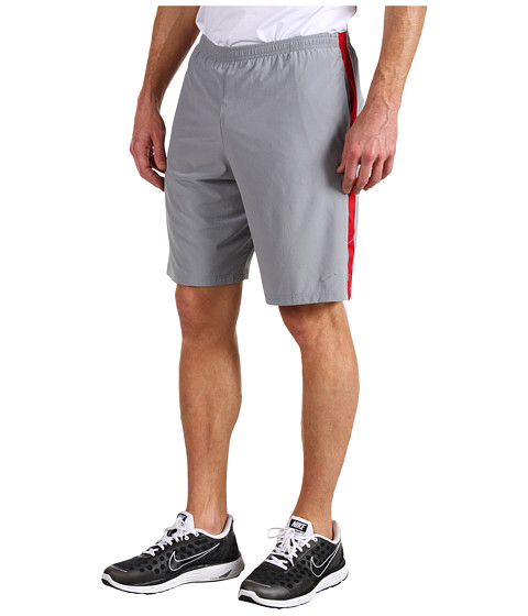 Pantaloni Nike - 9 inch Running Short - Stealth/Gym Red/reflective Silver
