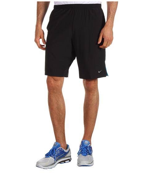 Pantaloni Nike - 9 inch Running Short - Black/Neo Turquoise/Stadium Grey/Reflective Silver
