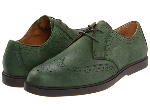 Pantofi Ralph Lauren Collection - Orrick Wingtip - Green Pull Up