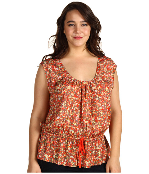 Bluze DKNY - Plus Size Printed Shiny Viscose Flutter Top - Multi Combo