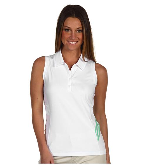 Bluze adidas Golf - ClimaCool 3-Stripes Sleeveless Polo - White/Gecko