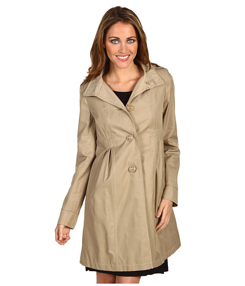 Jachete DKNY - Empire Waist Hooded Babydoll Coat - Khaki