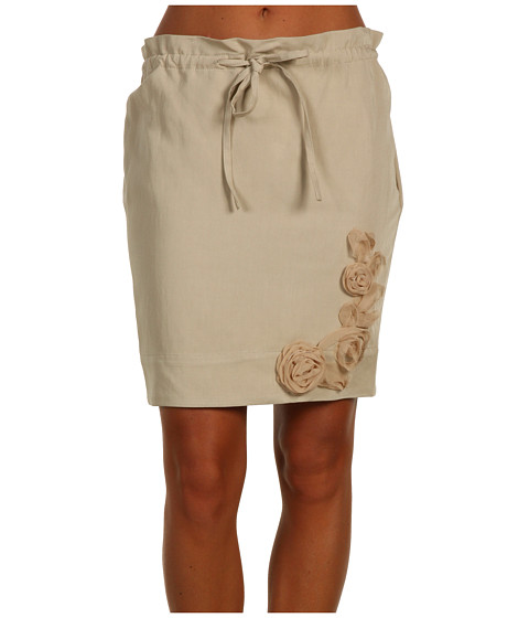 Fuste Moschino - Skirt With Drawstring and Flower Detail - D05
