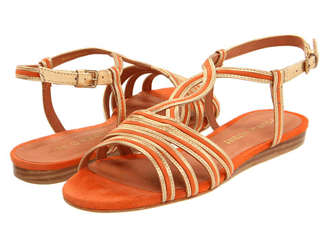 Sandale Pour La Victoire - Farida - Orange Metallic/Suede
