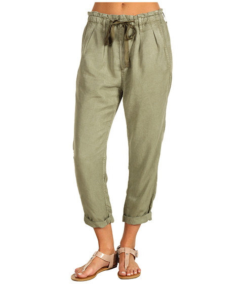 Pantaloni AG Adriano Goldschmied - Paper Bag Crop in Olive - Olive