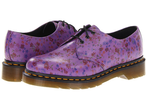 Pantofi Dr. Martens - 1461 3-Eye Shoe - Bright Purple Little Flowers