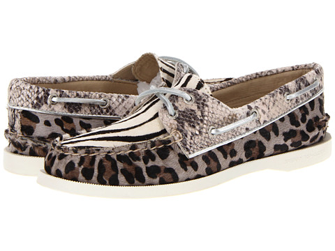 Pantofi Sperry Top-Sider - A/O 2 Eye - Black/White Multi-Animal Print