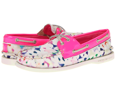 Pantofi Sperry Top-Sider - A/O 2 Eye - Milly Confetti Print/Hot Pink Patent