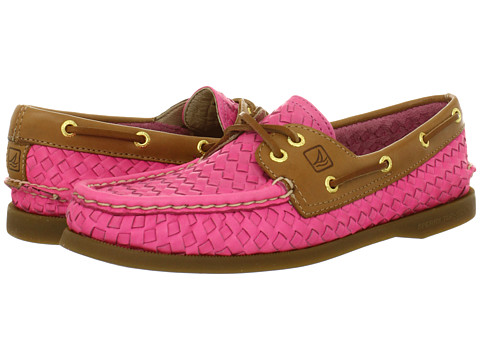 Pantofi Sperry Top-Sider - A/O 2 Eye - Hot Pink Woven/Cognac