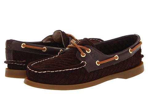 Pantofi Sperry Top-Sider - A/O 2 Eye - Dark Brown Woven Suede