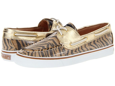 Pantofi Sperry Top-Sider - Bahama 2-Eye - Gold/Brown Zebra (Sequins)