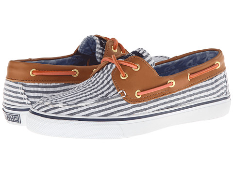 Pantofi Sperry Top-Sider - Bahama 2-Eye - Navy Seersucker/Cognac