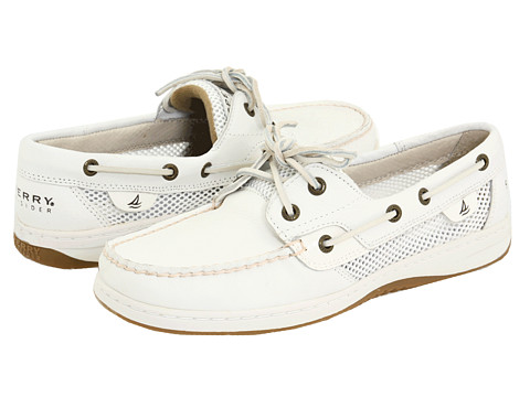 Pantofi Sperry Top-Sider - Bluefish 2-Eye - White Tumbled