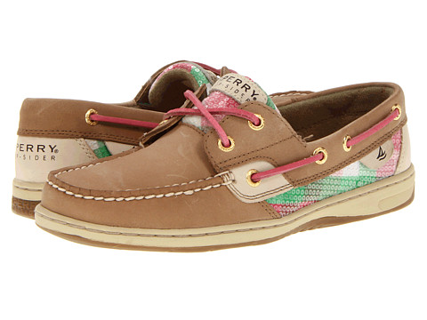 Pantofi Sperry Top-Sider - Bluefish 2-Eye - Linen/Pink/Green Plaid (Sequins)