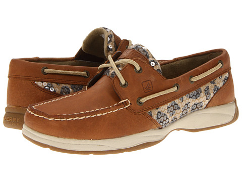 Pantofi Sperry Top-Sider - Intrepid 2-Eye - Tan/Leopard