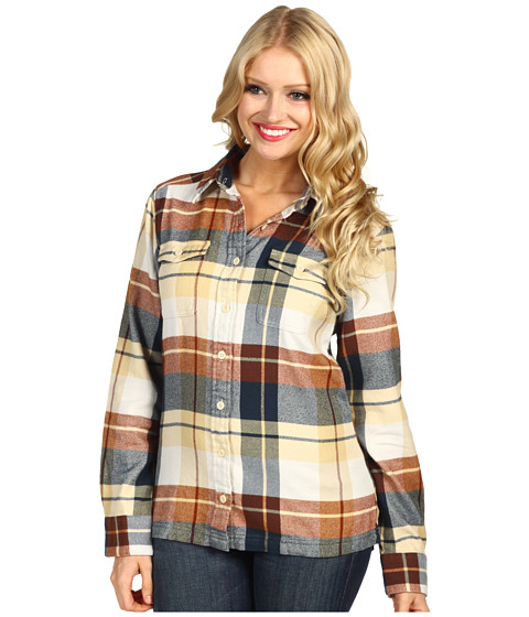 Camasi Patagonia - L/S Fjord Flannel Shirt - Dorthea/Heritage Green