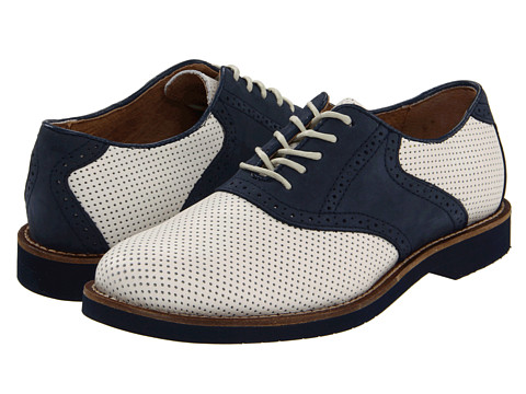 Pantofi Bass - Burlington - White Perfed/Navy