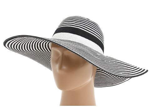 Palarii Echo Design - Two Color Thin Striped Floppy - Black/White