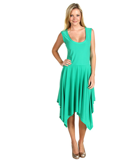 Rochii ABS Allen Schwartz - Sleeveless Handkerchief Hem Dress - Kelly Green