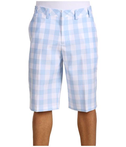 Pantaloni adidas Golf - Men\s Fashion Performance Plaid Short - White/Blue